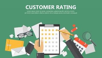 Documento con stelle di rating