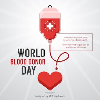 Donatore di sangue giorno del mondo di fondo