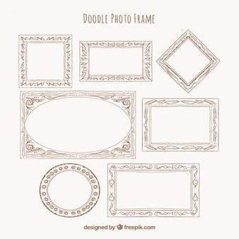 Doodle collezione di foto cornice
