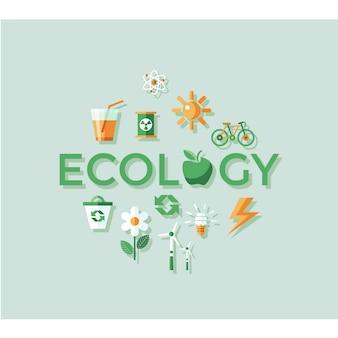 Ecologia progettazione sfondo