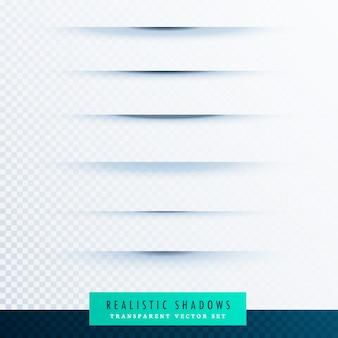 Effetto linea d'ombra foglio di carta su sfondo trasparente