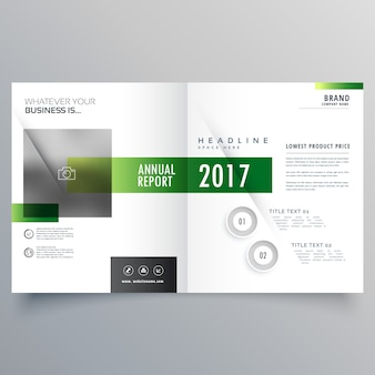 Elegante brochure bi-fold o copertina di riviste