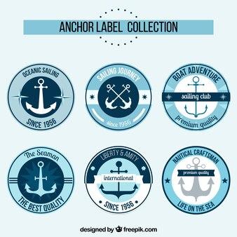 Elegante collezione di etichette di ancoraggio