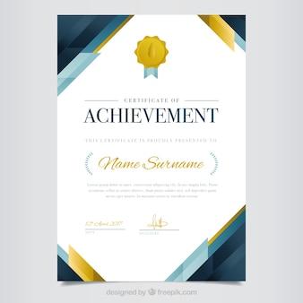 Elegante diploma astratto