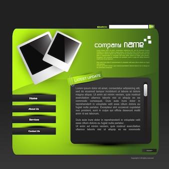 Elegante disegno vettoriale web modello