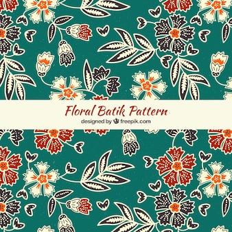 Elegante motivo floreale batik