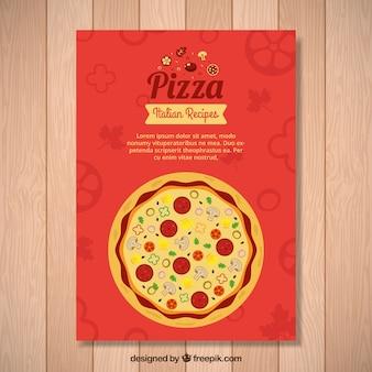 Elegante volantino per pizza italiana