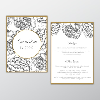 Eleganti carte da sposa floreali