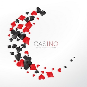 Elementi del casinò di carte da gioco in stile onda