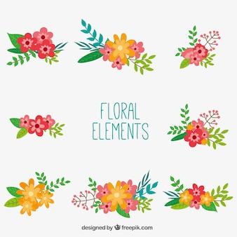 Elementi di decorazione floreale