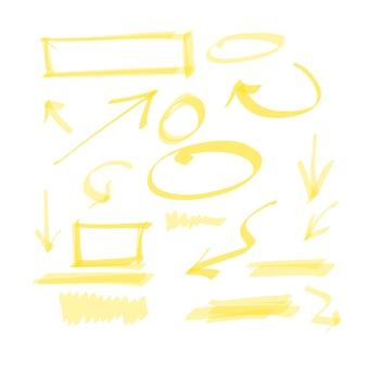 Elementi di disegno disegnati a mano