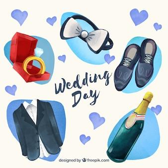 Elementi di nozze dell'uomo