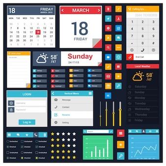 Elementi di web UI finale per web e mobile