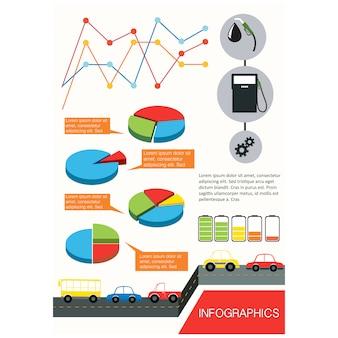 Elementi infographic disegno