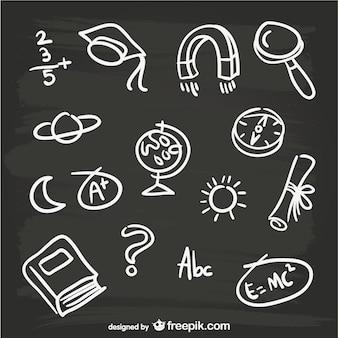 Elementi lavagna disegnati a mano