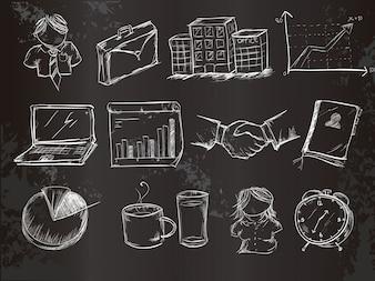 Elemento d'affari di gesso collezione