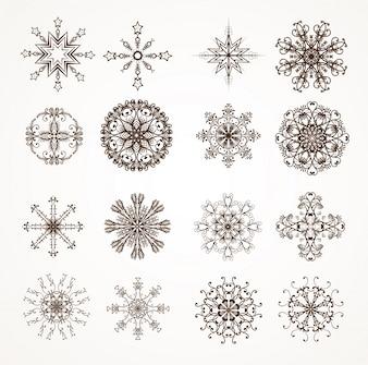 Elemento di neve icona decorazione congelato