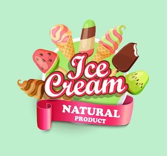 Emblema di gelato.