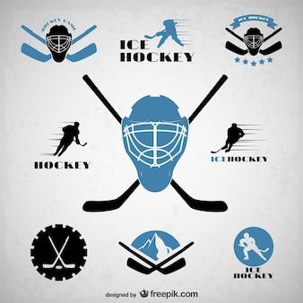 Emblemi di hockey set