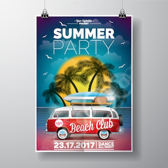 Estate template party poster