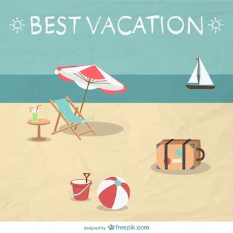 Estate vacanza spiaggia illustrazione