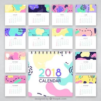 Estratto colorato calendario 2018
