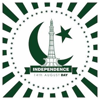 etichetta Pakistan Day Vintage