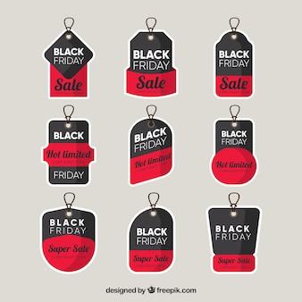 Etichette moderne di nozze nere