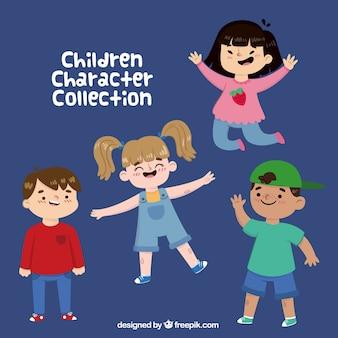 Fantastica collezione di quattro bambini allegri
