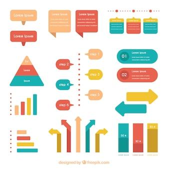 Fantastica selezione di elementi infographic utili