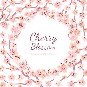 Fantastico sfondo con fiori rosa