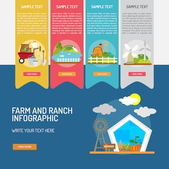 Farm and Ranch infografica disegno