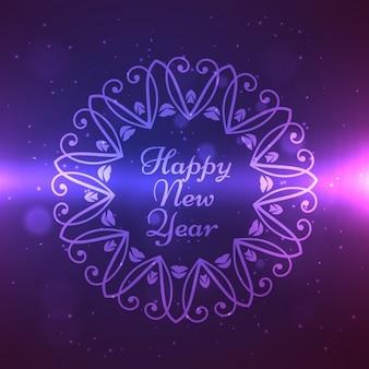Felice anno nuovo design a telaio ornamento