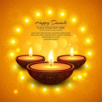 Felice Diwali background lucido