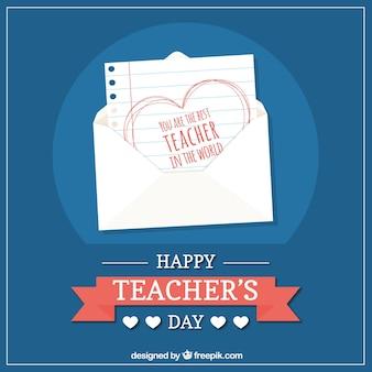 Felice giorno dell'insegnante, bella nota