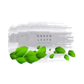 Fesh verde foglie sfondo vettoriale