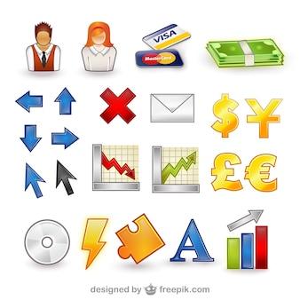 Finanza set di icone vettore confezione