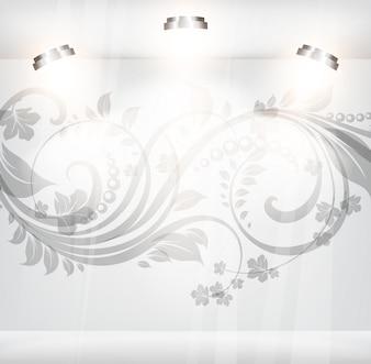 Finestra cartello fiore Vitrine scena