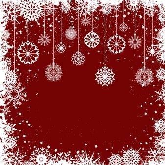 Fiocchi di neve di Natale cornice sfondo