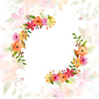 Fiori di acquerello fiori decorato sfondo.