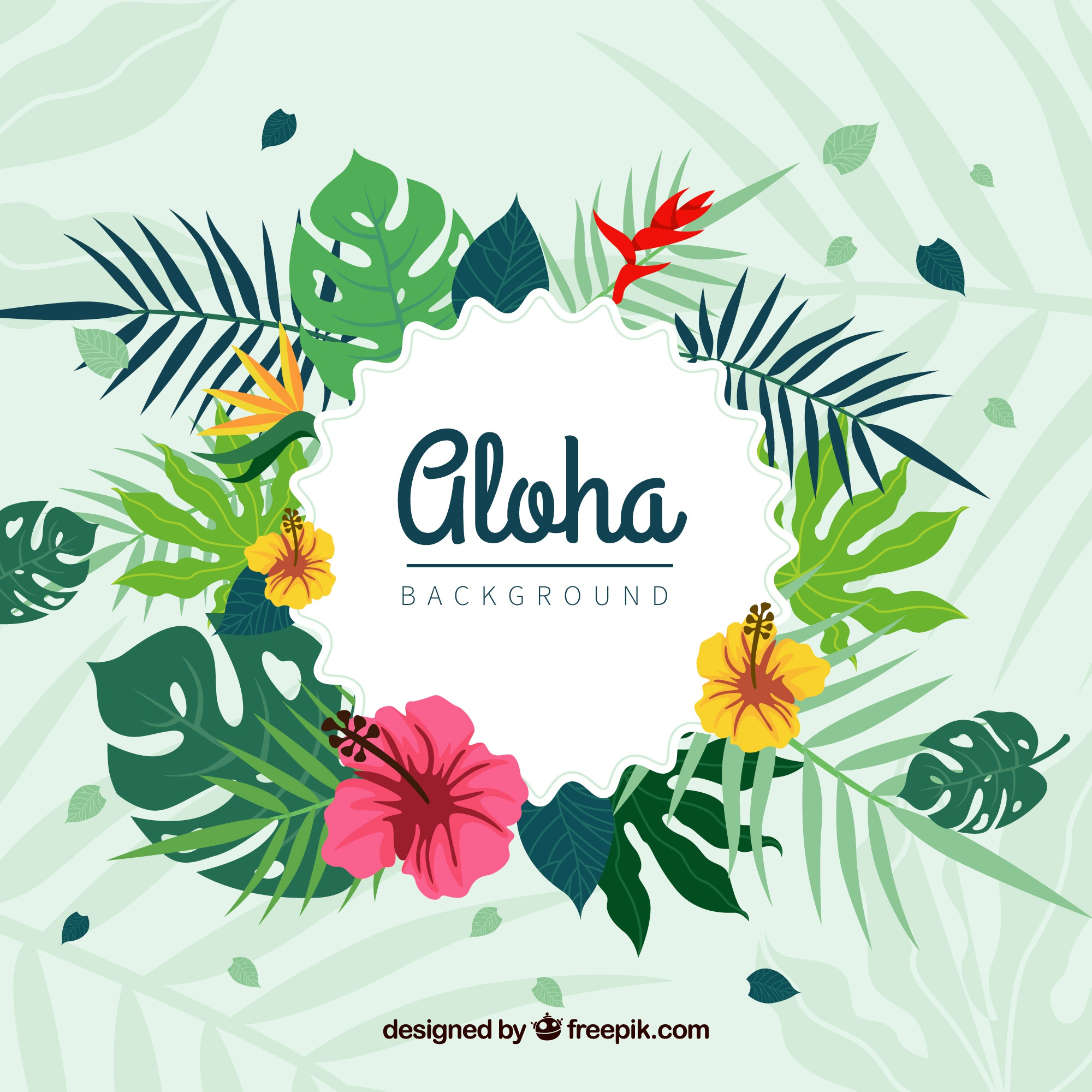 Floral background di aloha