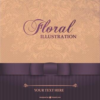 Floral design elegante carta