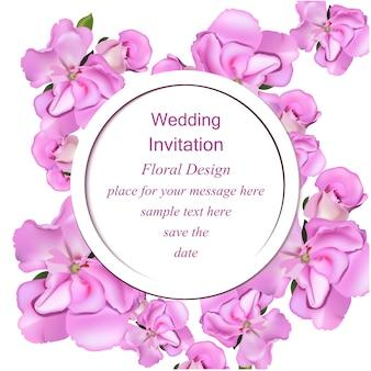 Floreale invito a nozze