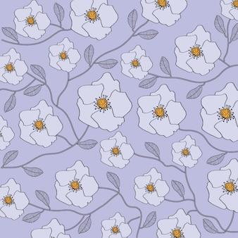 Floreale sfondo viola