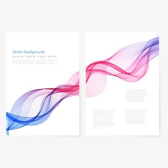 Flyer di colore modello astratto