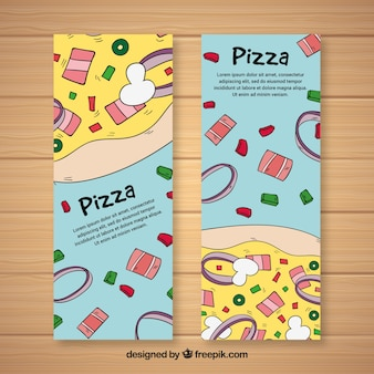 Flyer disegnato a mano pizza