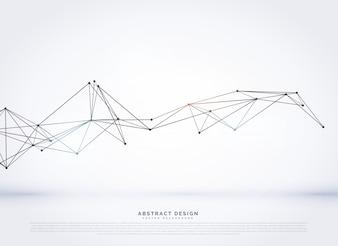 Fondo di rete digitale vettoriale con linee poli