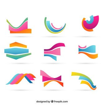 Forme ondulate colorati