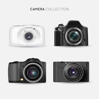 Fotocamere realistiche moderne collectio