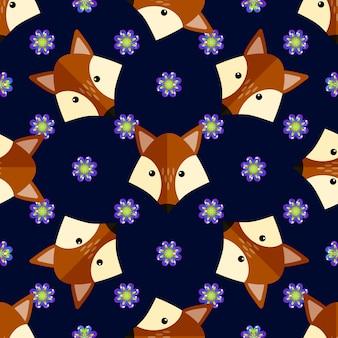 Fox pattern background